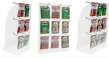 DISPLAY CASES FOR BATTERY  AA OR AAA BLISTERS