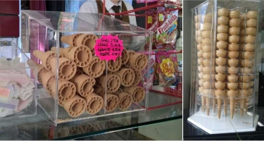 ICE REAM CONE HOLDER DISPLAYS